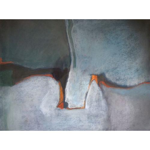 Coastline, pastel on paper, 28 x 39cm
