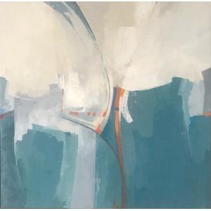 Flipside, acrylic on canvas, 50 x 50cm