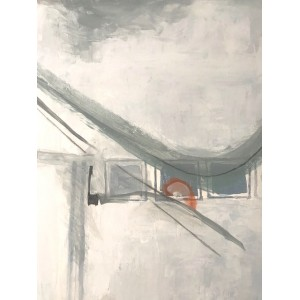 Diverting, acrylic on canvas, 45.5 x 35.5cm