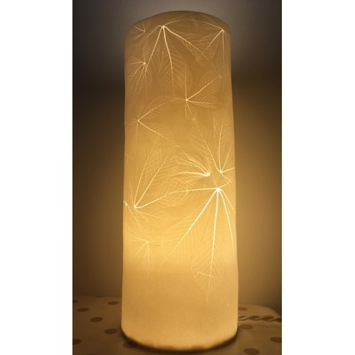 Horse Chestnut, porcelain lamp, H 36cm