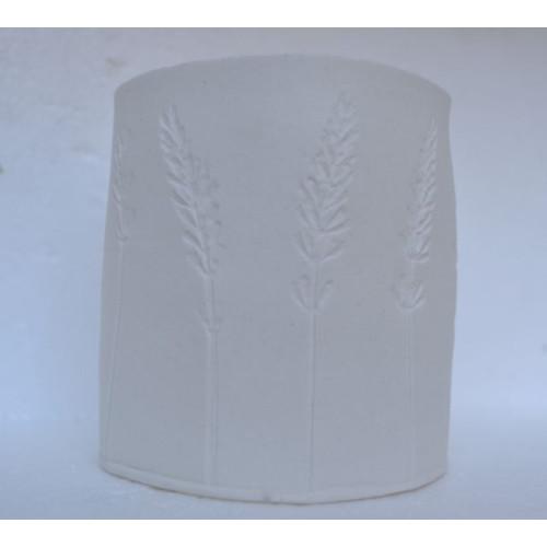 Lavender, porcelain candle burner, H:9cm