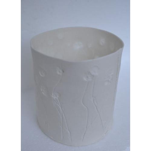 Daisies, porcelain candle burner, H:9cm