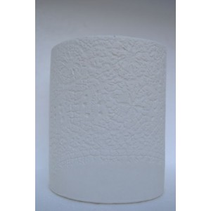 Lace, porcelain candle burner, H:10.5cm