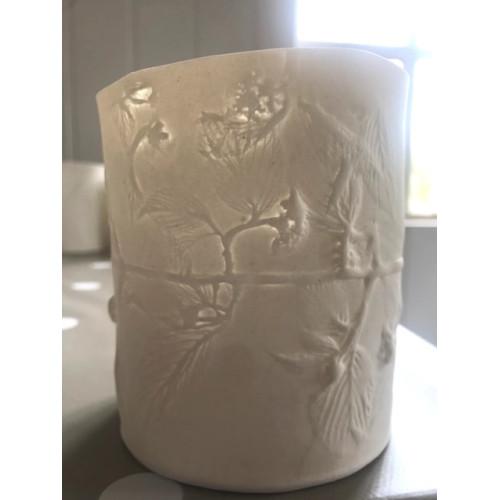 Virburnum, small candle burner, H: approx 10cm
