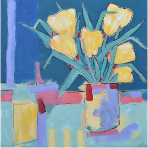 Tulips 5 (282), acrylic on canvas board, 51 x 51cm