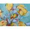 Tulips 3, acrylic on canvas board, 30x30cm