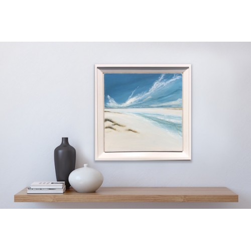Framed size: 73 x 73cm in a really beautiful hand made gesso frame