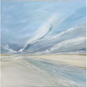 Tidelines, oil on board, 60x60cm