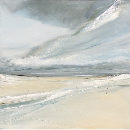 Holkham Remembered, oil on canvas 50x50cm