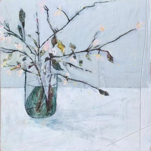 Spring Stems, oil on board, 30 x 30cm