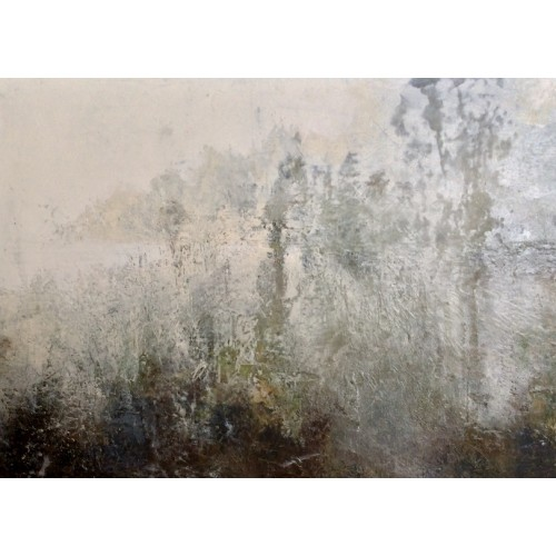 Morning Memory, oil and cold wax on canvas, 74 x 54cm