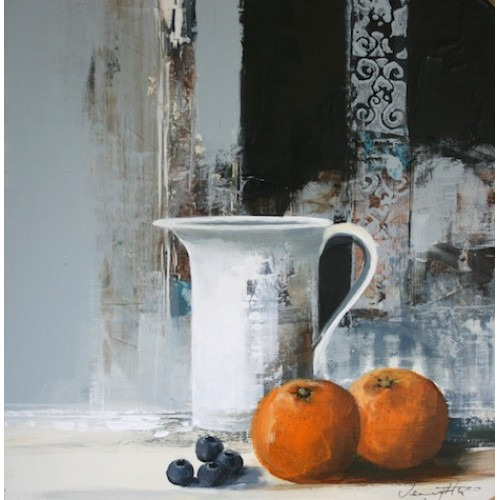 Still Life with Oranges and Blueberries