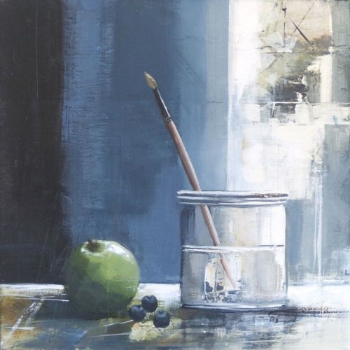 Still Life with Water Pot and Apple