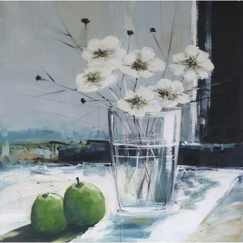 Vase of Flower with Apples