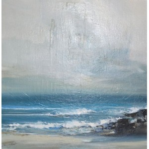 Breeze Catching the Waves, acrylic on board, 50 x 50cm