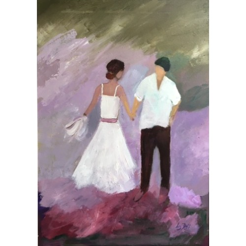 The First Step in the Dance, oil on canvas, 50x42cm