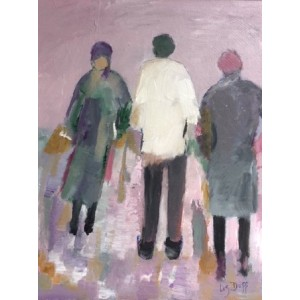 Retail Therapy, oil on board, 36 x 46cm