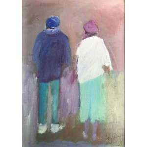 Together, oil on board, 29 x 21.5cm
