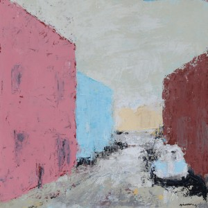 Bo Kaap no. 3, acrylic on paper, 36 x 36cm