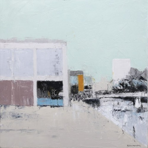 Watershed 2, oil on canvas, 50 x 50cm