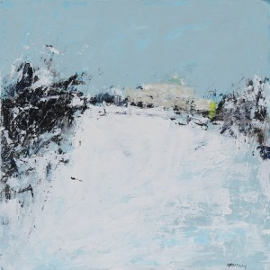 Pittville Winter 4, acrylic on board, 30.5 x 30.5cm