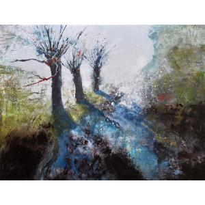 Three willows, acrylic on canvas,  30 x 40cm