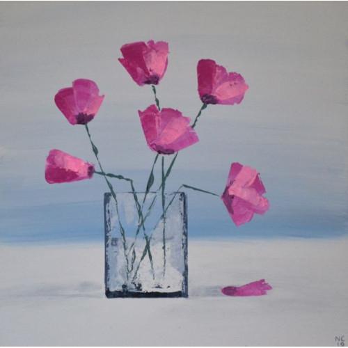 Pretty in Pink, acrylic on board, 30x30cm