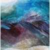 Purple Rocks in Turquoise Pools, acrylic on canvas 90x90cm
