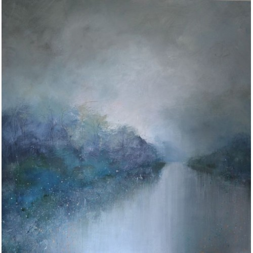 Moonlight Whispers, acrylic on canvas, 90 x 90cm
