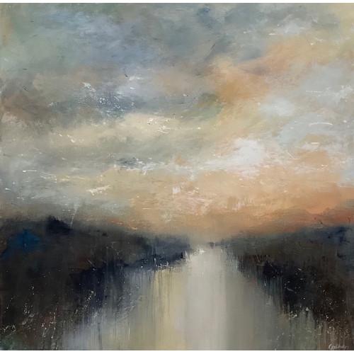 Hold the Sunset, acrylic on canvas, 50 x 50cm