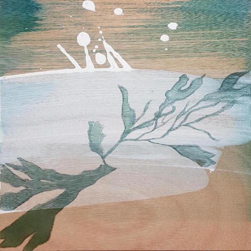 Encounter, mixed media on wood panel, 30 x 30cm
