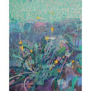Dandelion, oil on board, 50 x 40cm