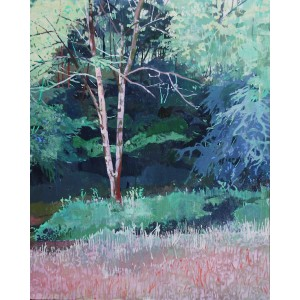 Blushed Tree, oil on board, 50 x 40cm
