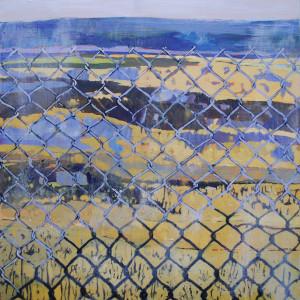 Boundary, oil on canvas, 30.5 x 30.5cm