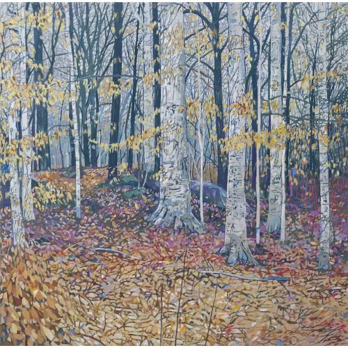 Fall, oil on canvas, 50 x 50cm